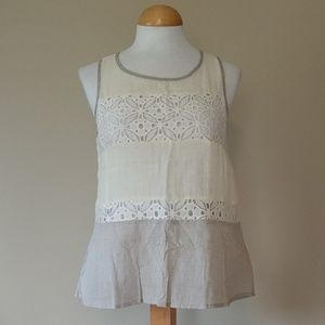 Mystree NWOT Lace Color Block Tank